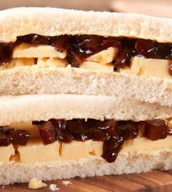 Cheese & Branston Pickle Sandwich