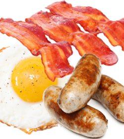 Sausage Bacon & Egg Breakfast Bun