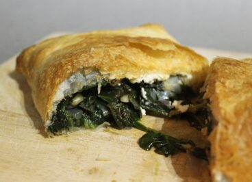 Spinach and Feta Pasty