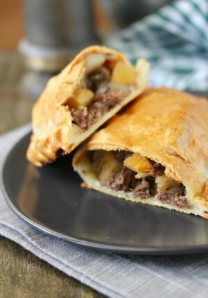 Steak Potato and Onion Pasty