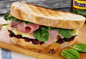 Cheese, Ham & Branston Pickle Sandwich