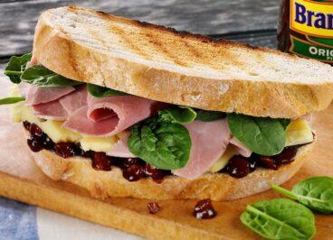 Cheese, Ham & Branston Pickle Sandwich