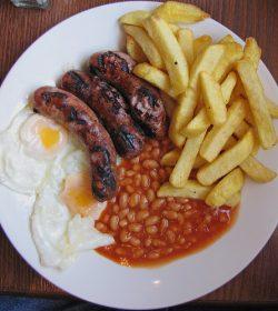 Sausage, Egg & Chips