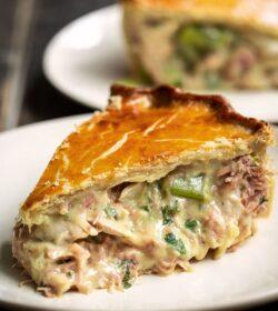 Chicken, Leek & Ham Pie